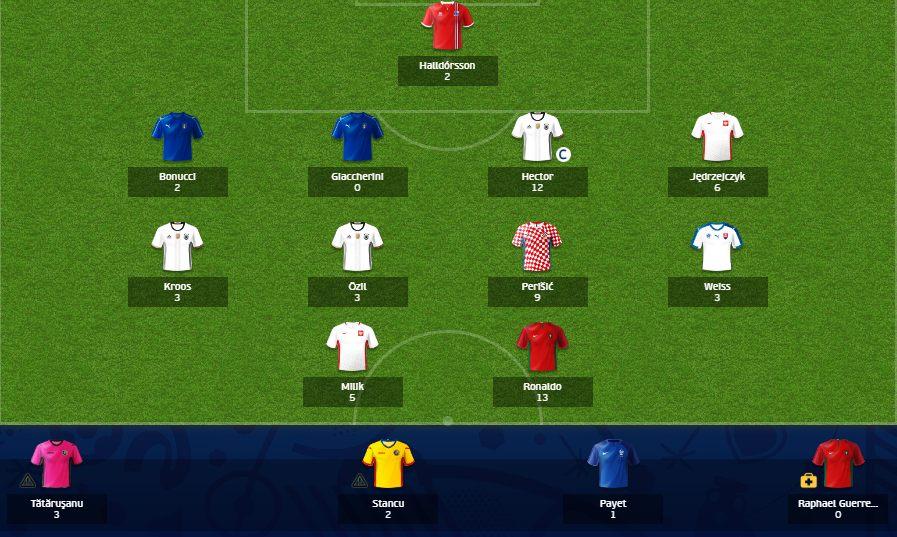 Drużyna Nowego w 3. kolejce Uefa Fantasy Euro 2016